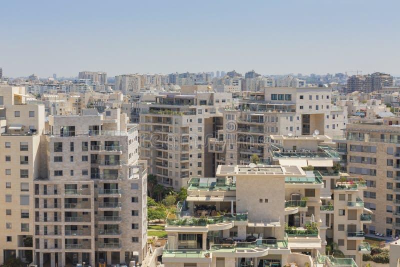 Distrito novo no local norte do telefone Aviv Modern Building And Constraction, Ramat Aviv, Tel Aviv, Israel foto de stock royalty free