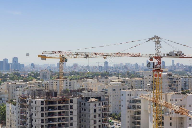 Distrito novo no local norte do telefone Aviv Modern Building And Constraction, Ramat Aviv, Tel Aviv, Israel fotografia de stock