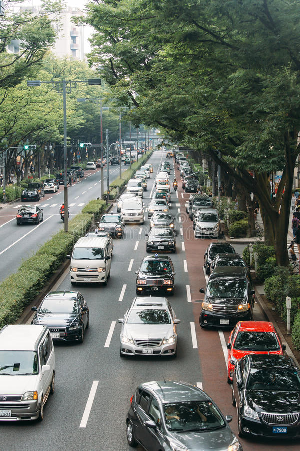 Distrito ocupado en Tokio, Japón imagen de archivo