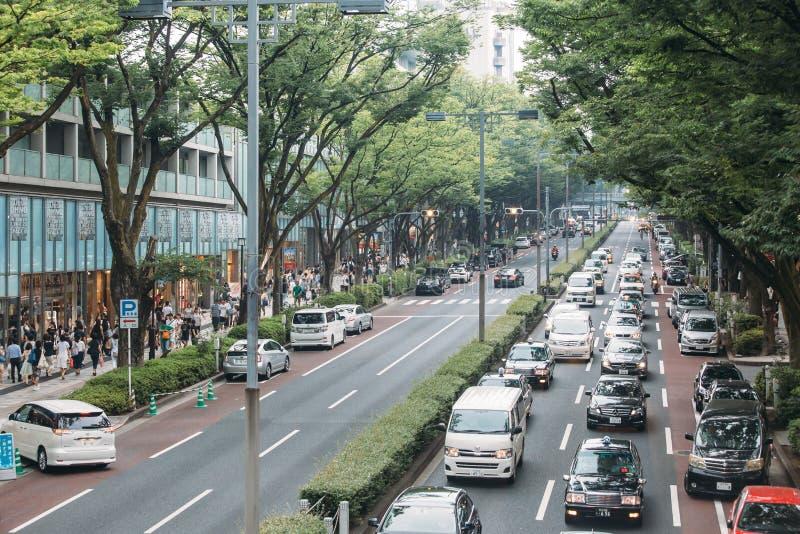 Distrito ocupado en Tokio, Japón foto de archivo libre de regalías
