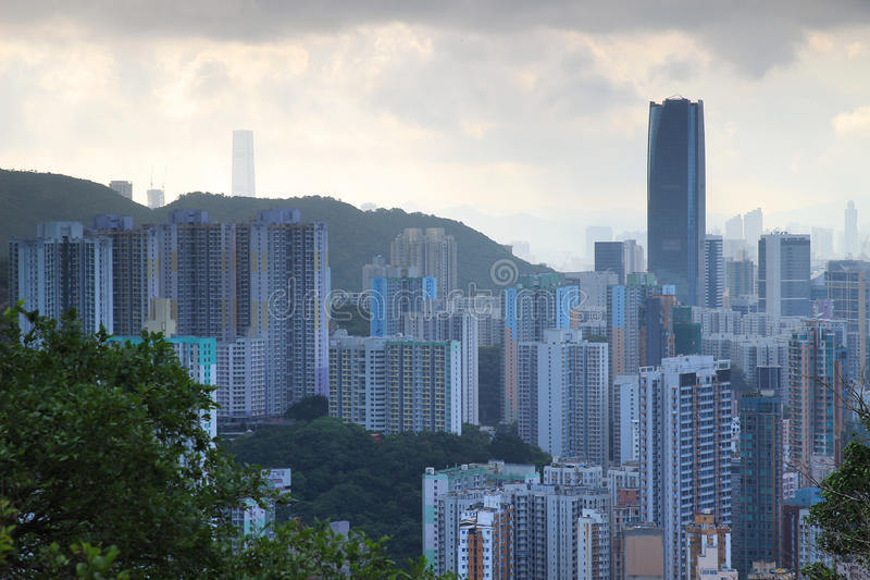 Distrito oriental em Hong Kong fotografia de stock royalty free