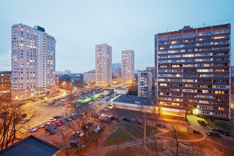 Distrito residencial imagem de stock