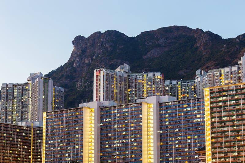 Distrito residencial de Kowloon imágenes de archivo libres de regalías