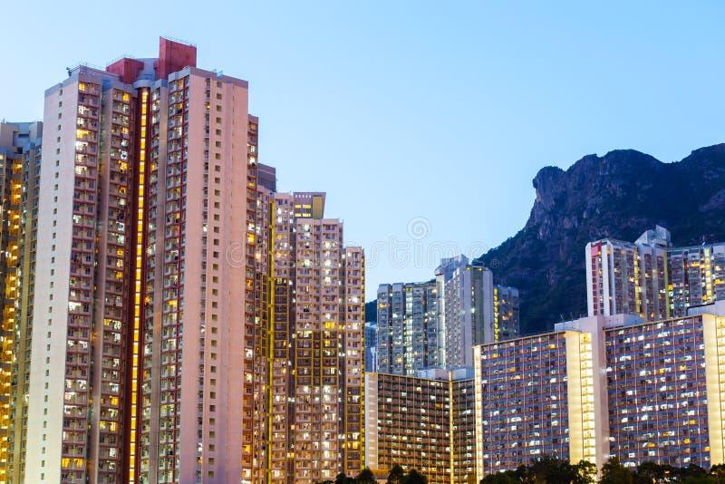 Distrito residencial de Kowloon foto de archivo libre de regalías