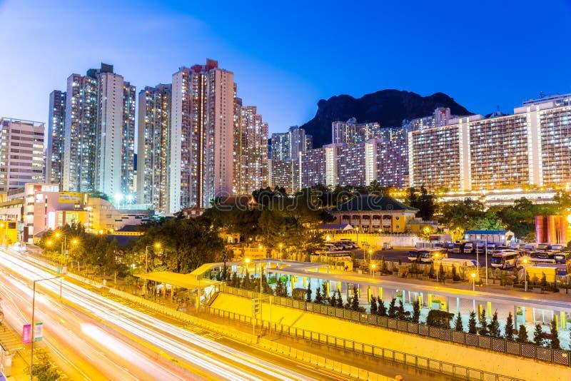 Distrito residencial de Kowloon en Hong Kong fotografía de archivo libre de regalías