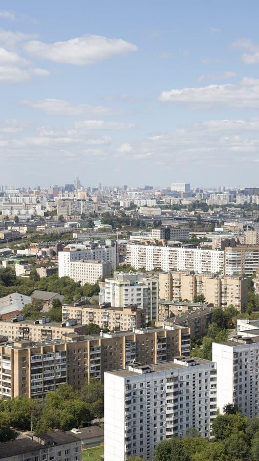 Distrito urbano de Moscou Sokolniki da paisagem fotografia de stock royalty free