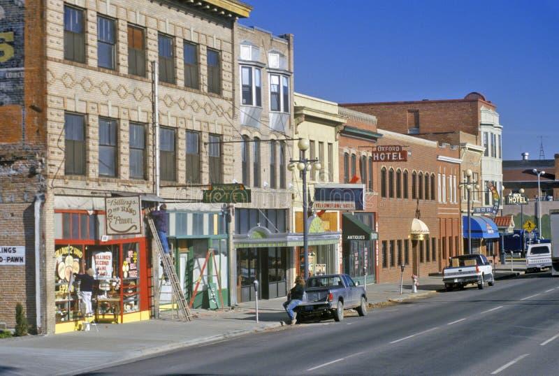 Distrito y edificios históricos en las facturaciones, TA imagenes de archivo