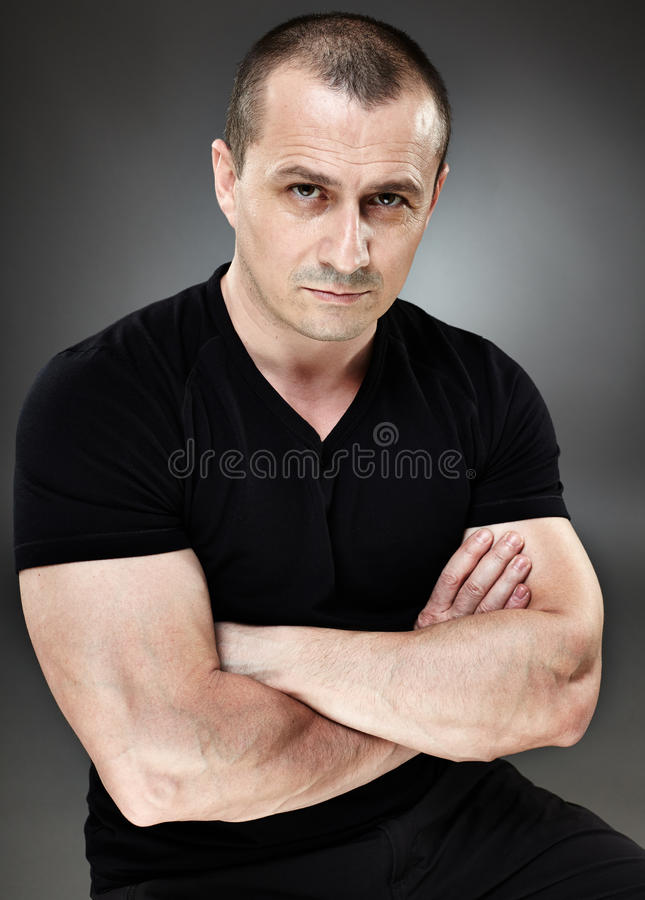 Download Distrustful man stock image. Image of person, look, black - 40657239