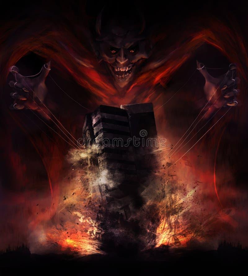 Distruzione del diavolo royalty illustrazione gratis