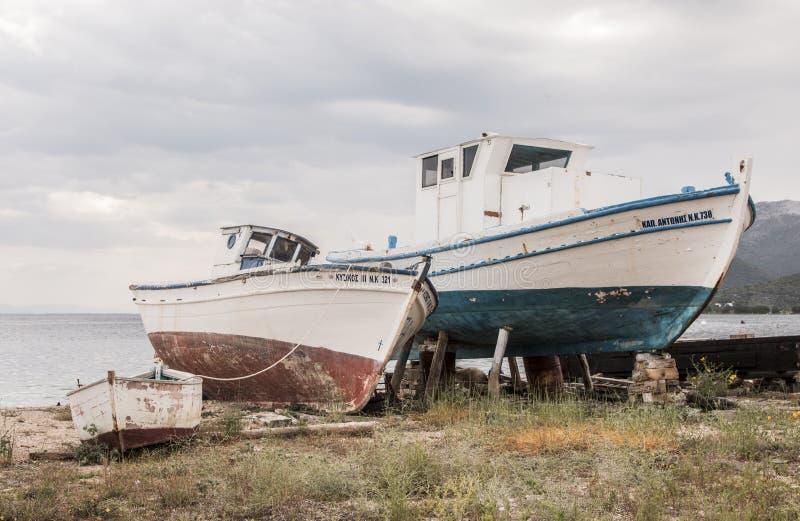 Distruzione delle barche fotografia stock libera da diritti