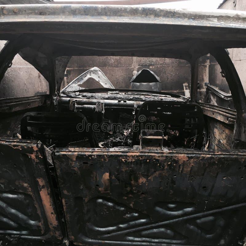 Distruzione di fuoco fotografie stock libere da diritti