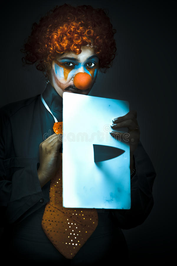 Download Disturbed Clown With Knife Stock Photos - Image: 17743573