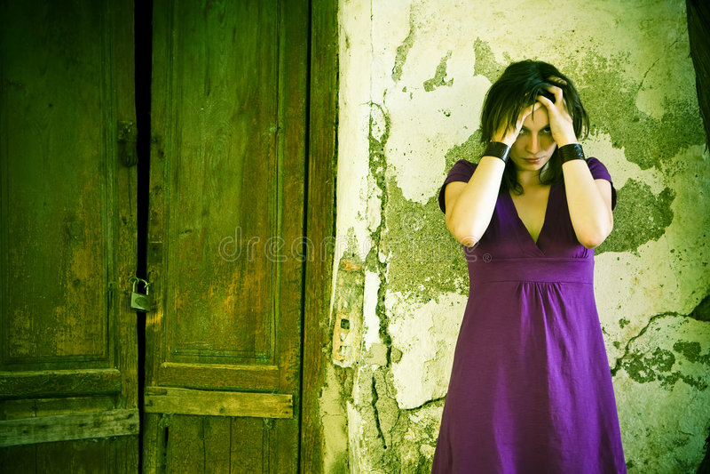 Download Disturbed woman stock photo. Image of feminine, facing - 5851544