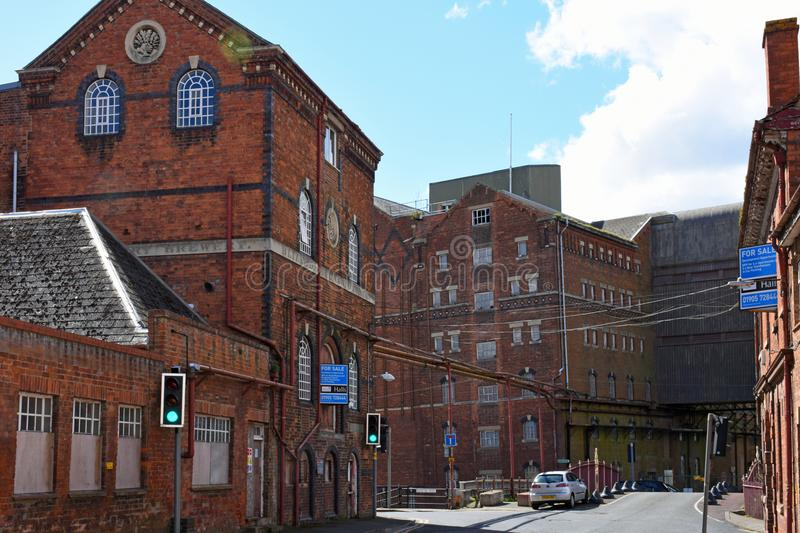Disused Healing`s Flour Mill, Tewkesbury, Gloucestershire, UK royalty free stock images