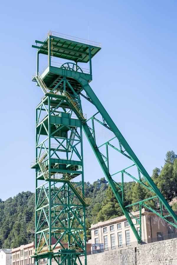 Disused wierza potażowa kopalnia Cardona fotografia royalty free