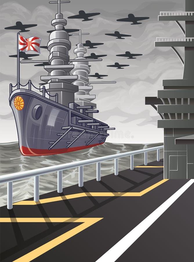 Dit beeld is een vectorwereldoorlog royalty-vrije illustratie