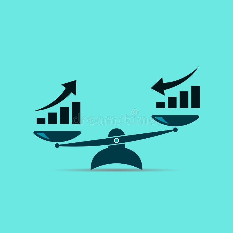 Dit is dossier van EPS10-formaat de groei omhoog en de groei neer Vector royalty-vrije illustratie