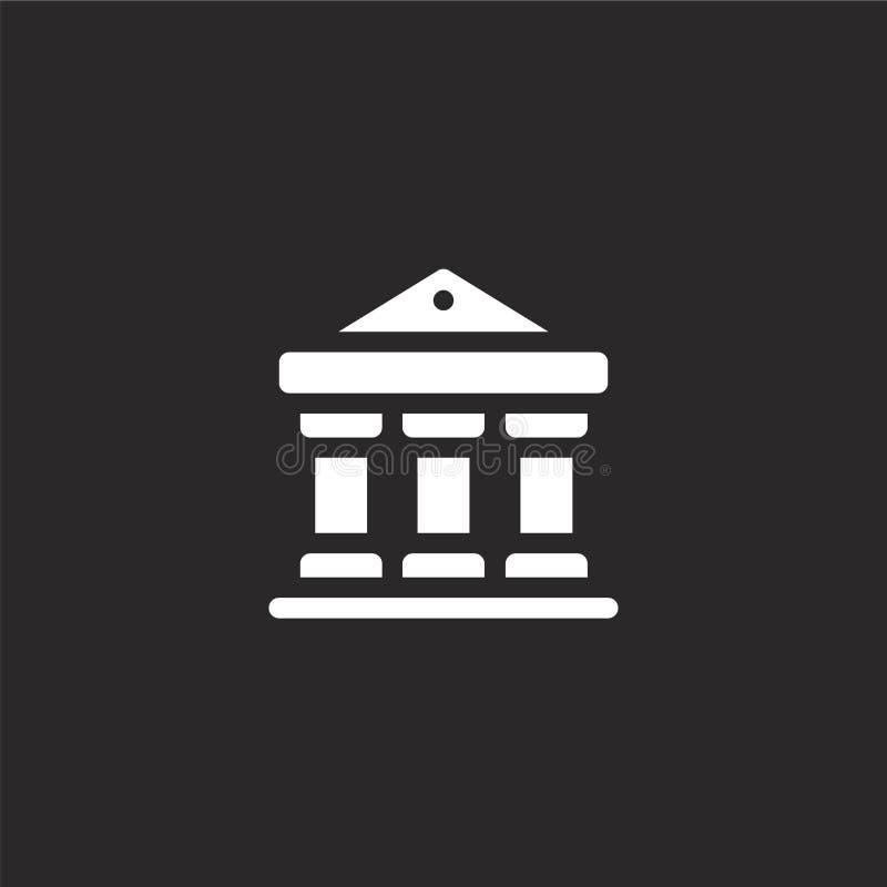 Dit is dossier van EPS10-formaat Gevuld bankpictogram voor websiteontwerp en mobiel, app ontwikkeling bankpictogram van gevulde s stock illustratie