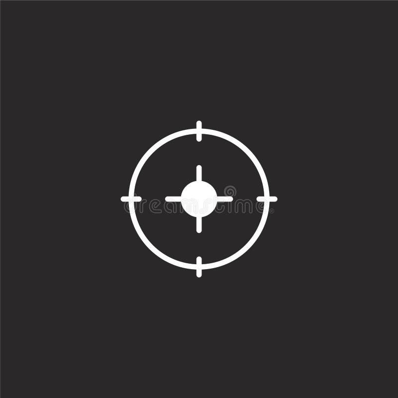 Dit is dossier van EPS10-formaat Gevuld doelpictogram voor websiteontwerp en mobiel, app ontwikkeling doelpictogram van gevulde e stock illustratie