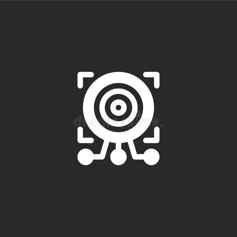 Dit is dossier van EPS10-formaat Gevuld doelpictogram voor websiteontwerp en mobiel, app ontwikkeling doelpictogram van gevulde k stock illustratie