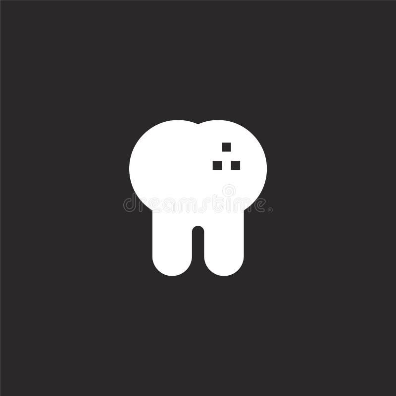 Dit is dossier van EPS10-formaat Gevuld tandpictogram voor websiteontwerp en mobiel, app ontwikkeling tandpictogram van gevulde t royalty-vrije illustratie
