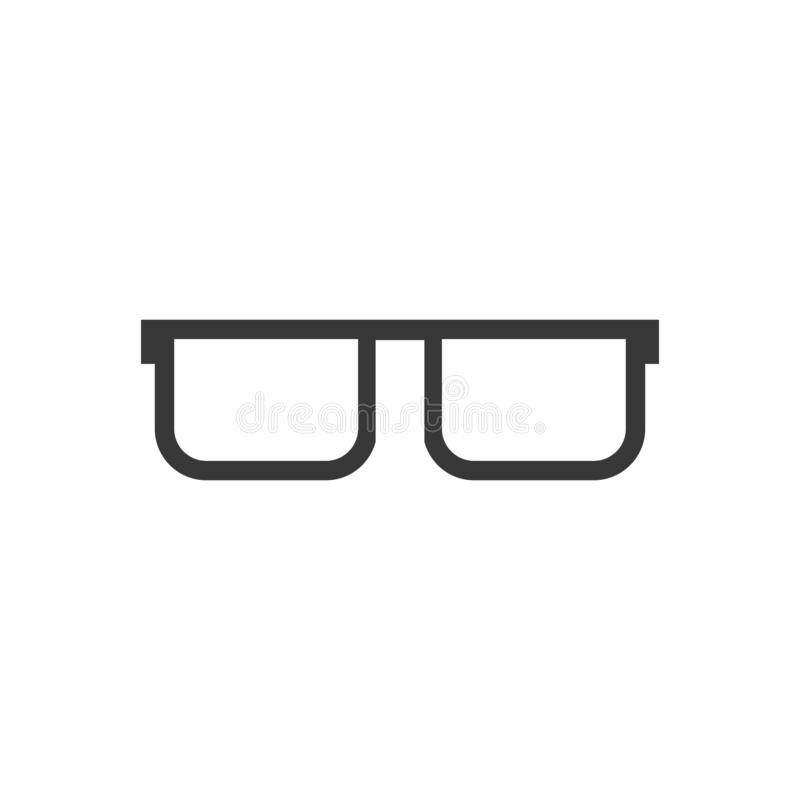 Dit is dossier van EPS10-formaat Hipsterglazen Vector illustratie die op witte achtergrond wordt geïsoleerdd vector illustratie