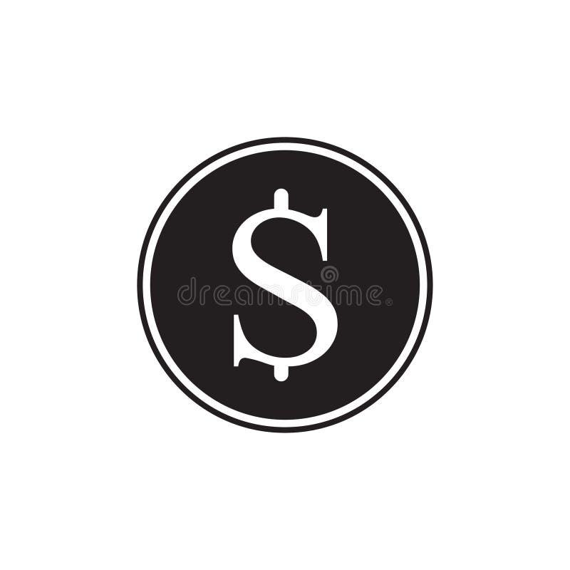 Dit is dossier van EPS10-formaat Zwart die dollarcontant geld op achtergrond wordt ge?soleerd Modern eenvoudig vlak teken Vlakke  vector illustratie