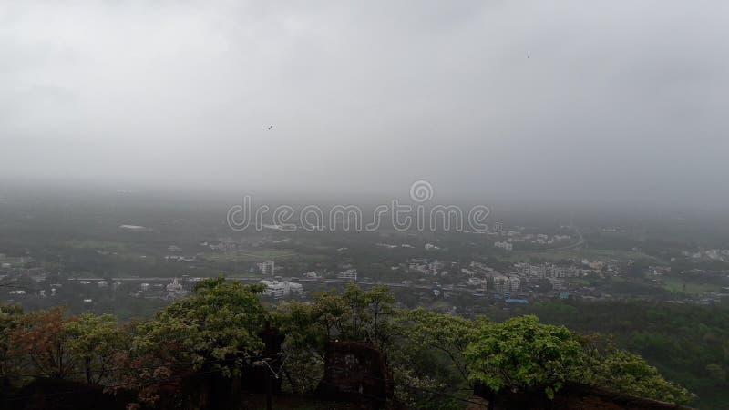 Dit is een mooie mening van Parnera-Heuvel valsad Zuid-Gujarat in India stock foto's