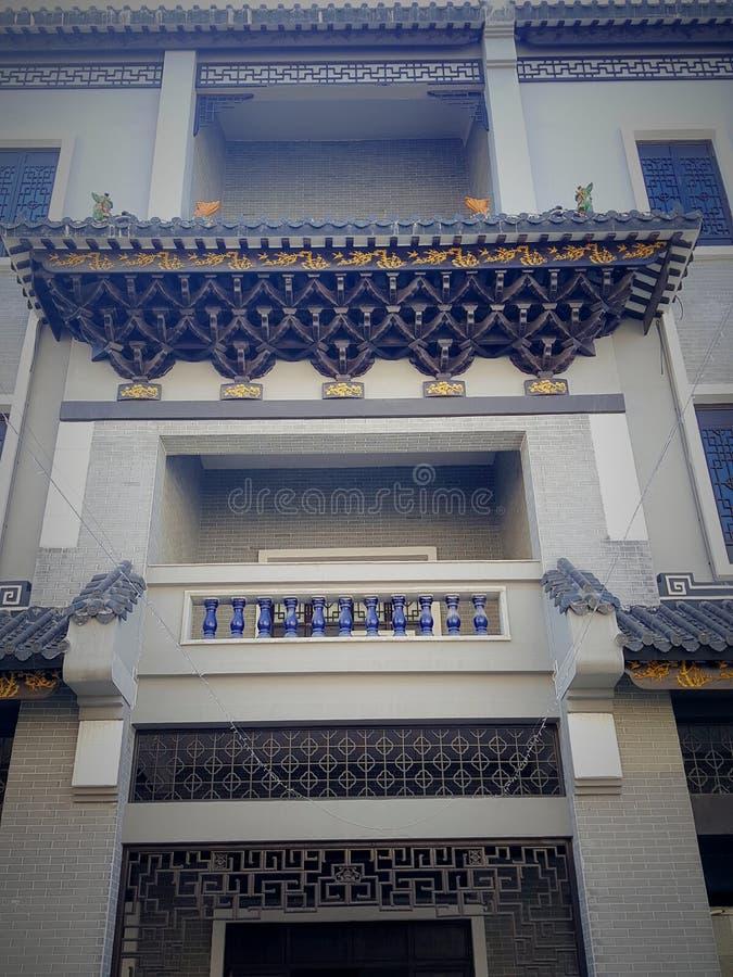 Dit is het landschap van de oude de bouwstraat in Huizhou, China royalty-vrije stock foto