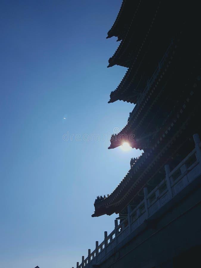 Dit is het landschap van de oude de bouwstraat in Huizhou, China stock foto