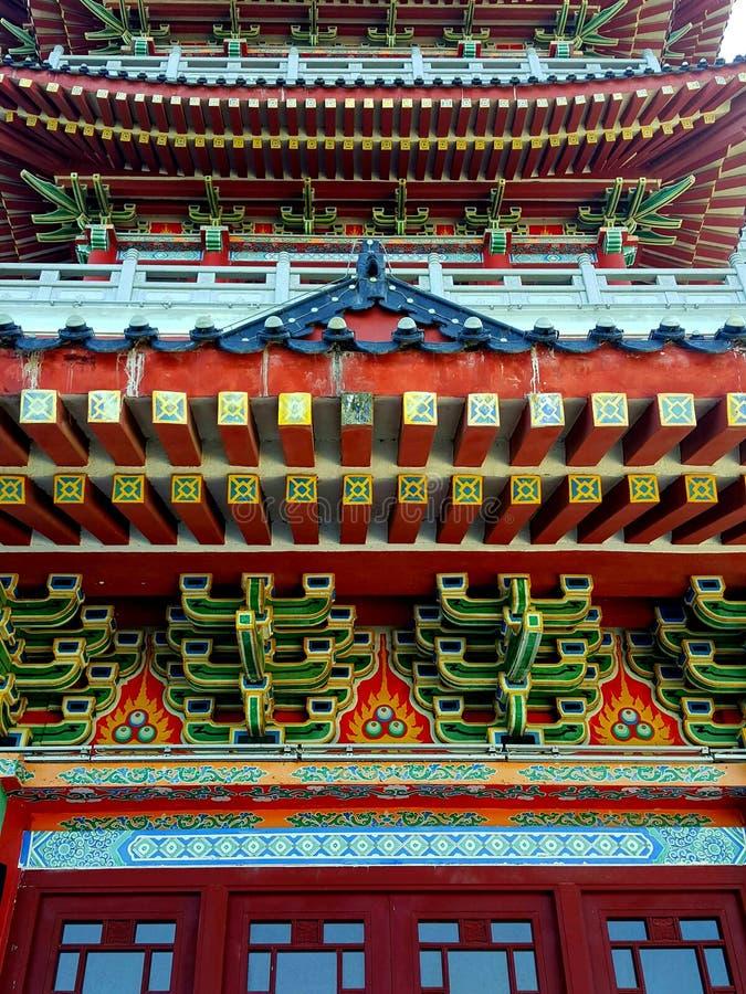 Dit is het landschap van de oude de bouwstraat in Huizhou, China stock afbeeldingen