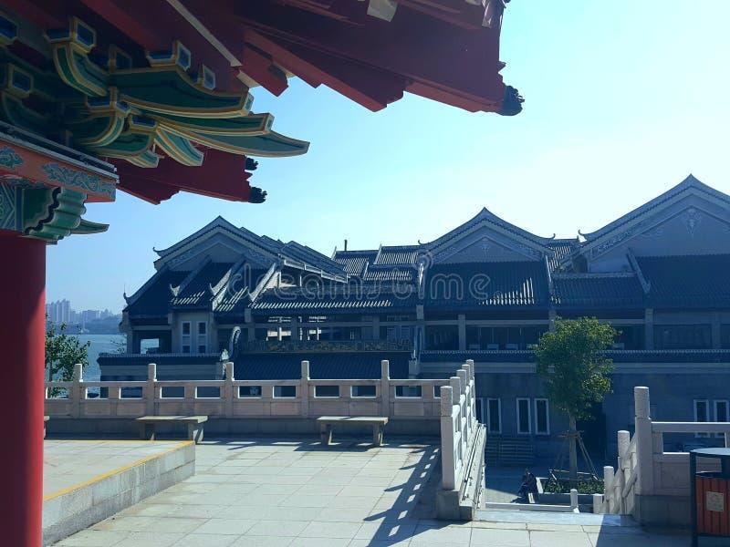 Dit is het landschap van de oude de bouwstraat in Huizhou, China stock fotografie