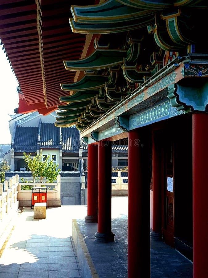 Dit is het landschap van de oude de bouwstraat in Huizhou, China royalty-vrije stock afbeelding