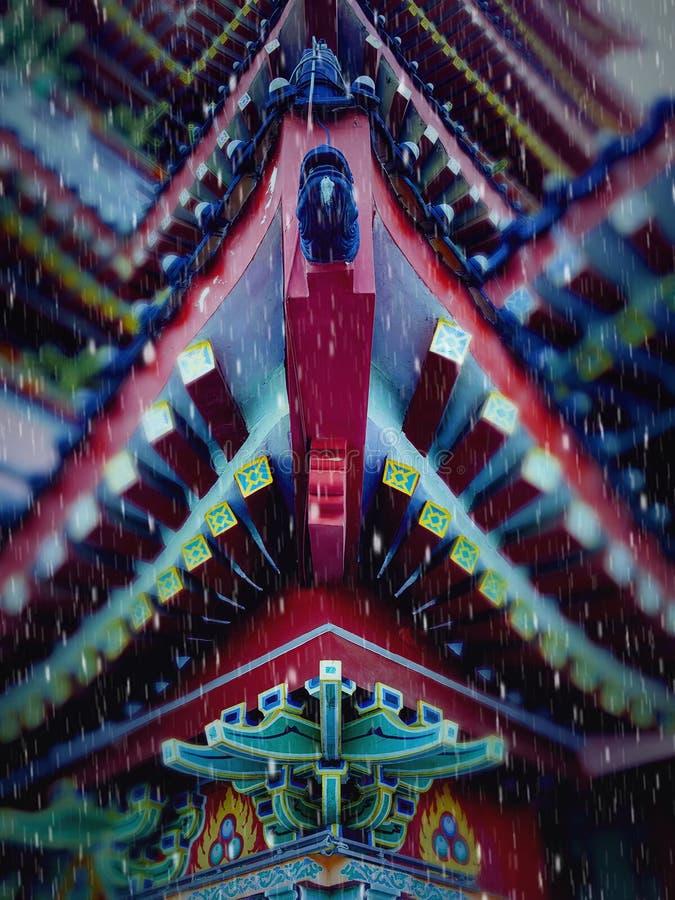 Dit is het landschap van de oude de bouwstraat in Huizhou, China royalty-vrije stock afbeeldingen