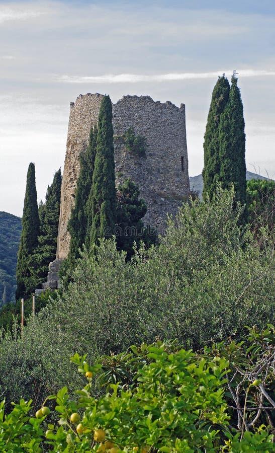 Dit is het zogenaamde Graf van Cicero'n in Formia Italië stock fotografie
