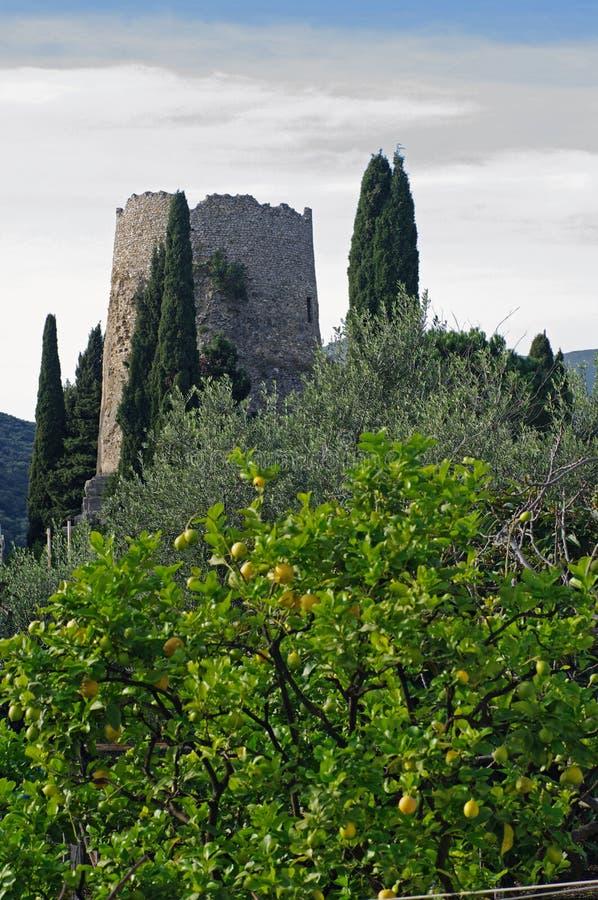 Dit is het zogenaamde Graf van Cicero'n ` s in Formia Italië stock afbeelding