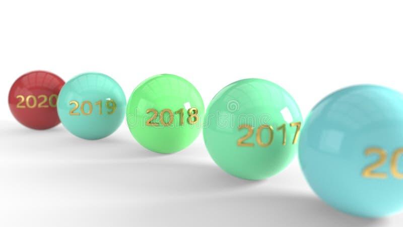 Dit jaar en is volgend jaar, het 3d teruggeven vector illustratie