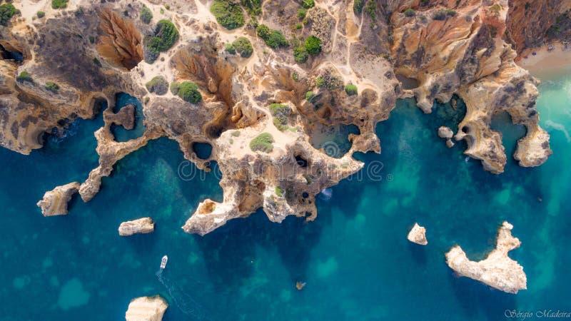 Dit is Lagos Lagos in Algarve royalty-vrije stock foto