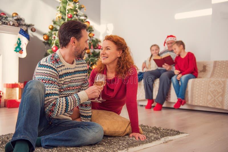 Dit is onze beste Kerstmis stock fotografie
