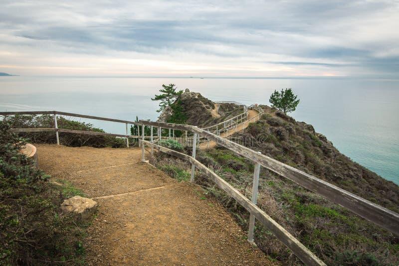 Dit is overziet sleep op de bovenkant van Muir Beach Overlook royalty-vrije stock foto