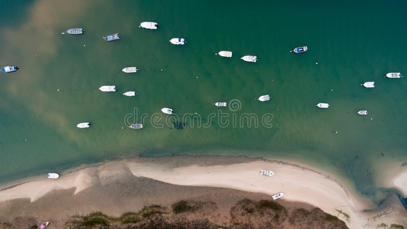 Dit is Praia Dona Ana in Lagos in Algarve stock foto's