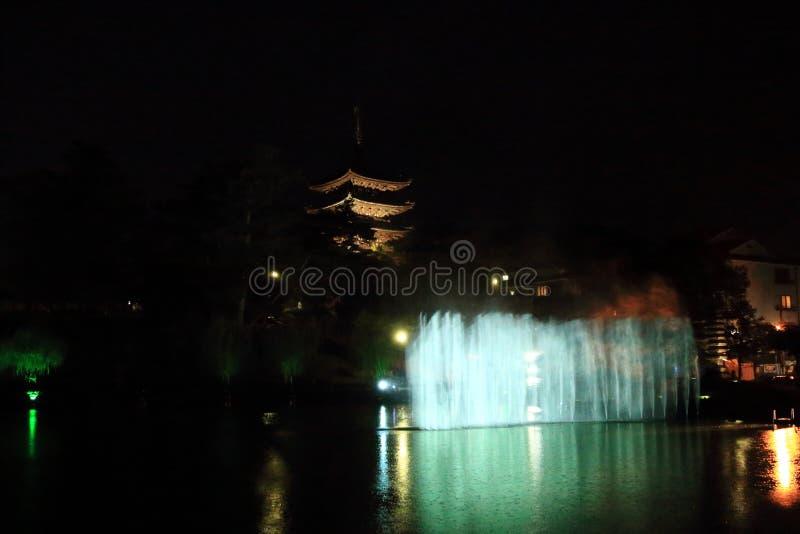Dit is vijf-storied pagode in tempel Kofuku -kofuku-ji stock foto