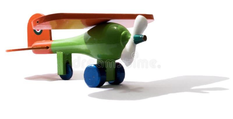 Dit vliegtuig is een stuk speelgoed. royalty-vrije stock afbeelding
