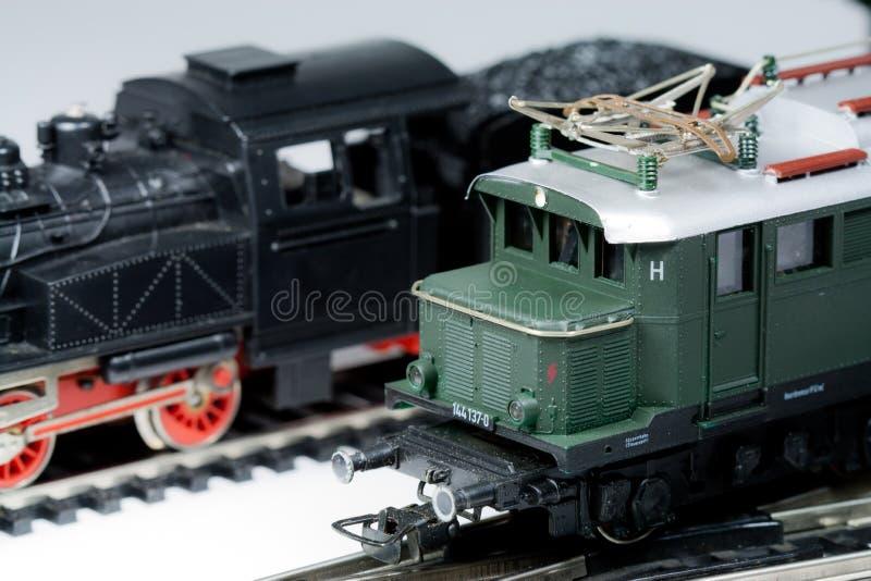 Model treinen stock fotografie