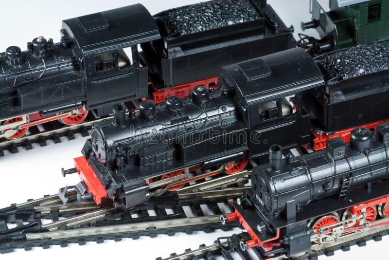 Model treinen royalty-vrije stock afbeelding