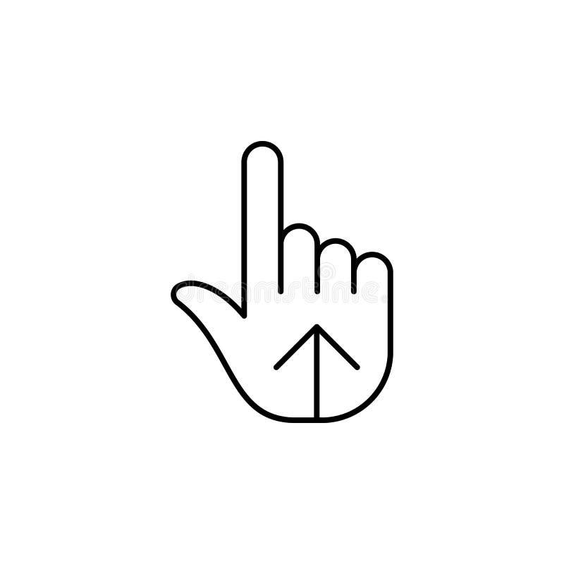 Dita, mano, un'icona di tre profili Elemento dell'icona semplice per i siti Web, web design, cellulare app, grafici di informazio illustrazione vettoriale