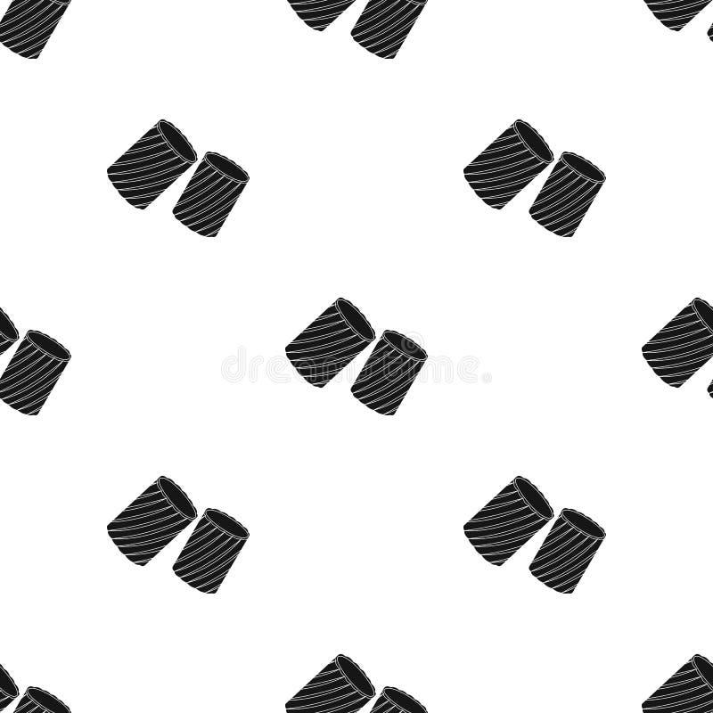 ditalini在白色背景在黑样式的面团象隔绝的 面团样式