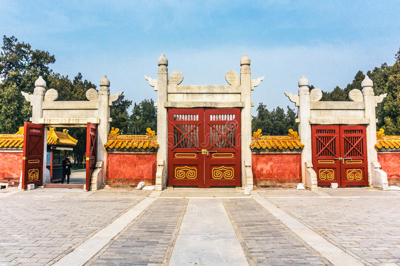 Ditan park in Beijing. Ditan park called Fang Ze altar, is the second largest altar five places in the ancient capital of Beijing. Park was built in the Ming stock images