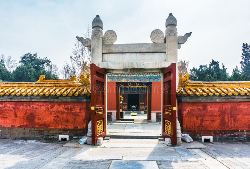Ditan park in Beijing. Ditan park called Fang Ze altar, is the second largest altar five places in the ancient capital of Beijing. Park was built in the Ming stock image