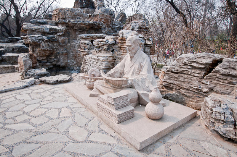 Ditan Park. Statue in Temple of Earth also called Ditan Park in Beijing, China royalty free stock image